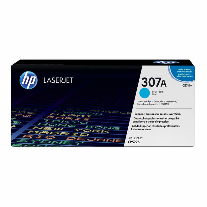 HP 307A Cyan Original LaserJet Toner Cartridge [CE741A]