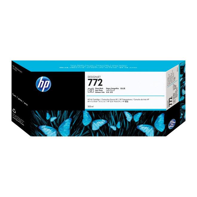HP 772 300-ml Photo Black DesignJet Ink Cartridge, Original [CN633A]