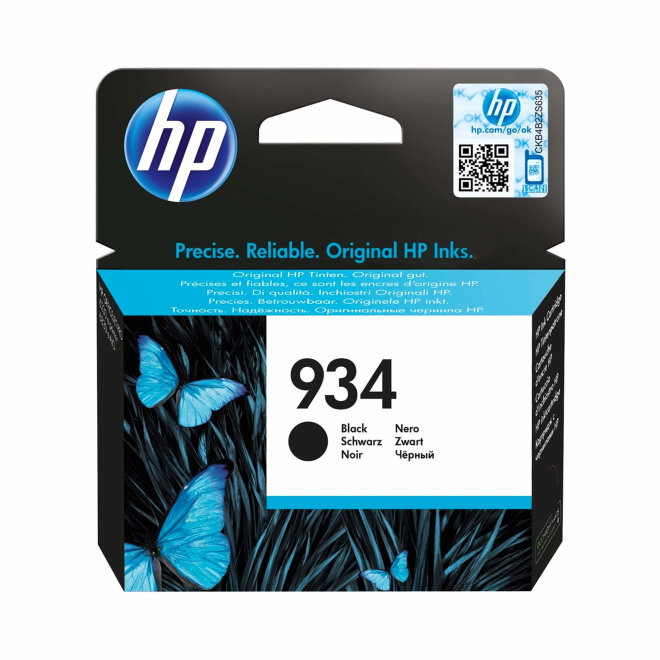 HP 934 Black Ink Cartridge, cca 400 ispisa, Original [C2P19AE]