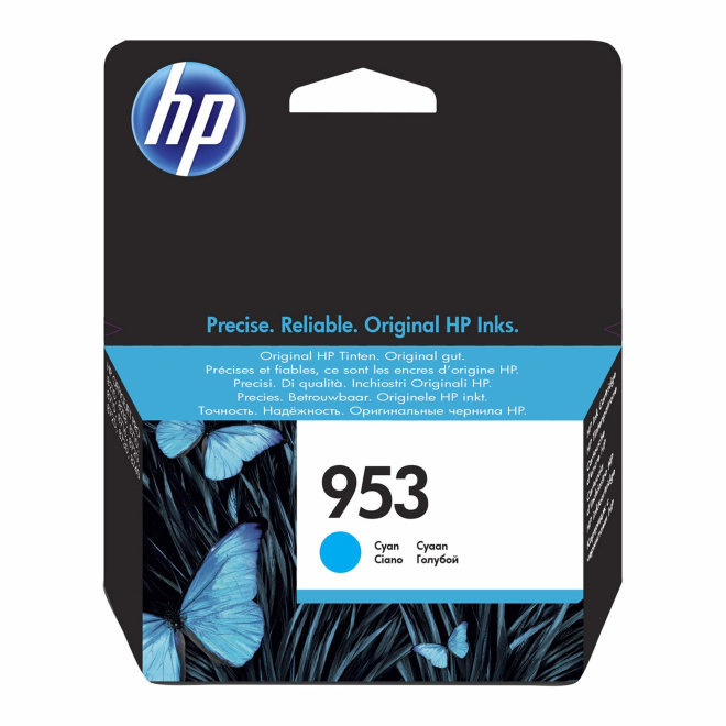HP 953 Cyan Original Ink Cartridge [F6U12AE]