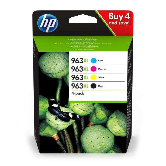 HP 963XL 4-pack High Yield Black/Cyan/Magenta/Yellow Original Ink Cartridges [3YP35AE]