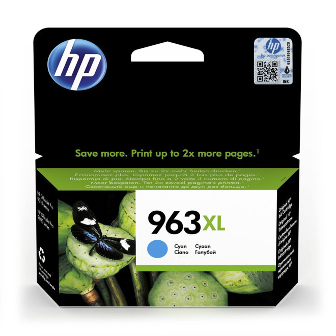 HP 963XL High Yield Cyan Original Ink Cartridge [3JA27AE#BGY]