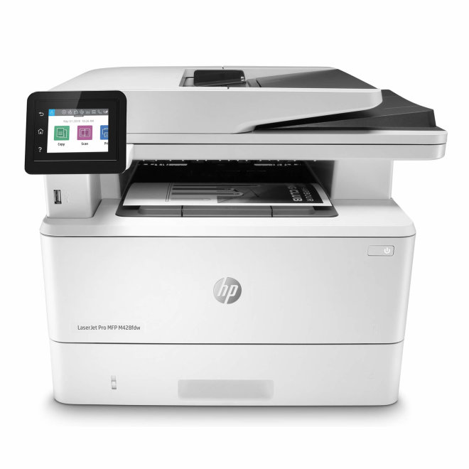 HP LaserJet Pro MFP M428fdw, višefunkcijski pisač, laserski ispis C/B, A4, WiFi, Ethernet, USB, ADF, Duplex, Touchscreen, Embedded Security Features, 60 – 200 g/m² [W1A30A#B19]