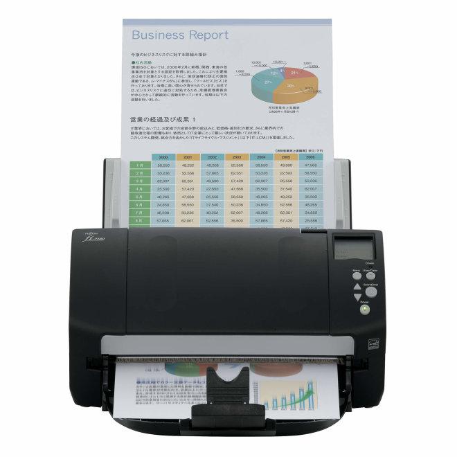 Fujitsu fi-7180, skener, 600 dpi, 80 ppm / 160 ipm, ADF, A4, LCD, USB 3.0 [PA03670-B001]