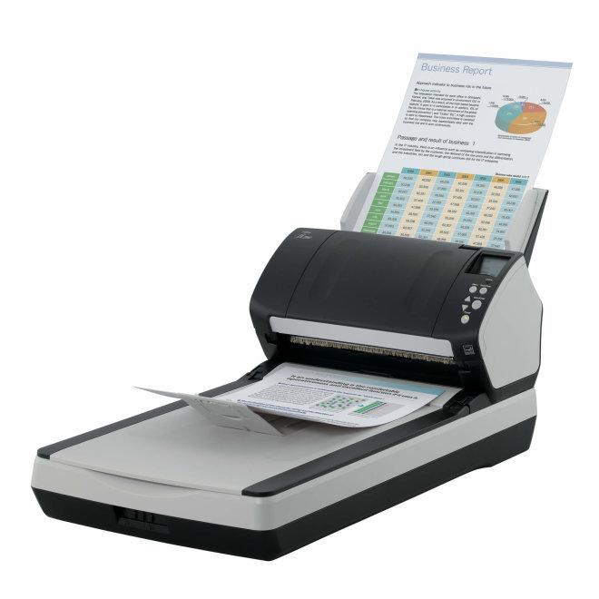 Fujitsu fi-7260, skener, 600 dpi, A4, ADF + Flatbed, 60 ppm / 120 ipm, 3 x CCD, LCD, USB 3.0 [PA03670-B551]