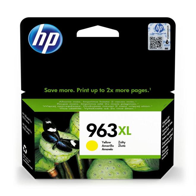 HP 963XL High Yield Yellow Original Ink Cartridge [3JA29AE#BGY]