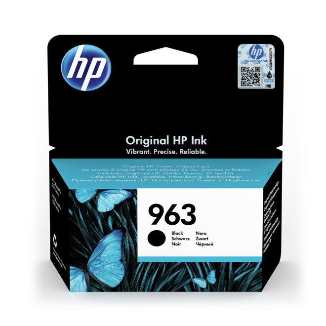 HP 963 Black Ink Cartridge, cca 1.000 ispisa, Original [3JA26AE#BGX]