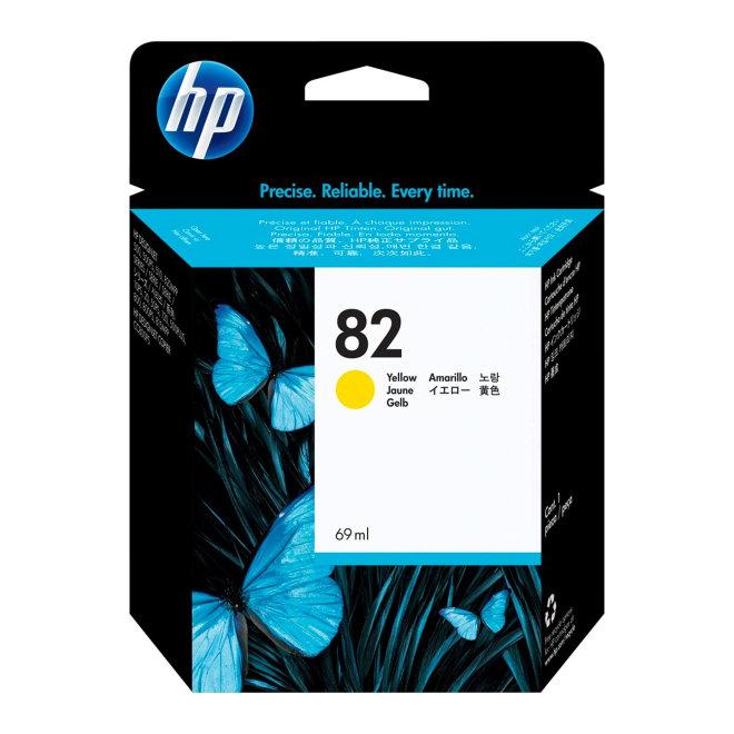 HP 82 69-ml Yellow DesignJet Original Ink Cartridge [C4913A]