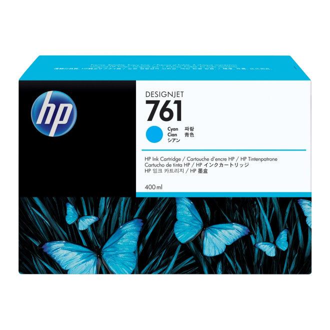 HP 761 400-ml Cyan DesignJet Original Ink Cartridge [CM994A]