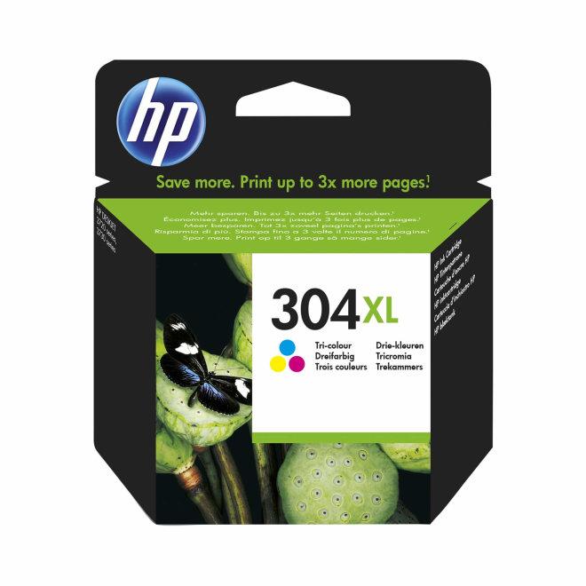 HP 304XL Tri-color Ink Cartridge, cca 300 ispisa, Original [N9K07AE]