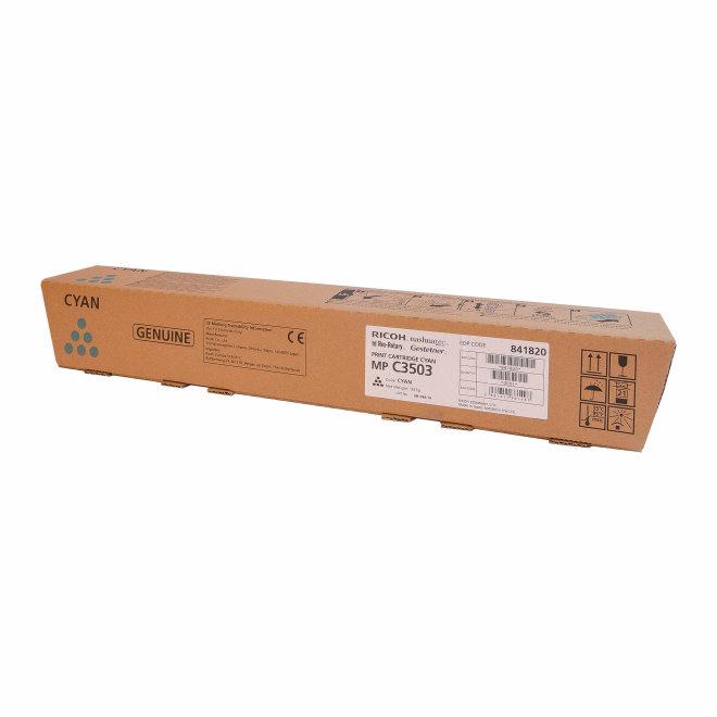 Ricoh/Nashuatec MP C3003 / MP C3503 / MP C3004 / MP C3504, Cyan, toner, cca 18.000 ispisa, Original [841820]