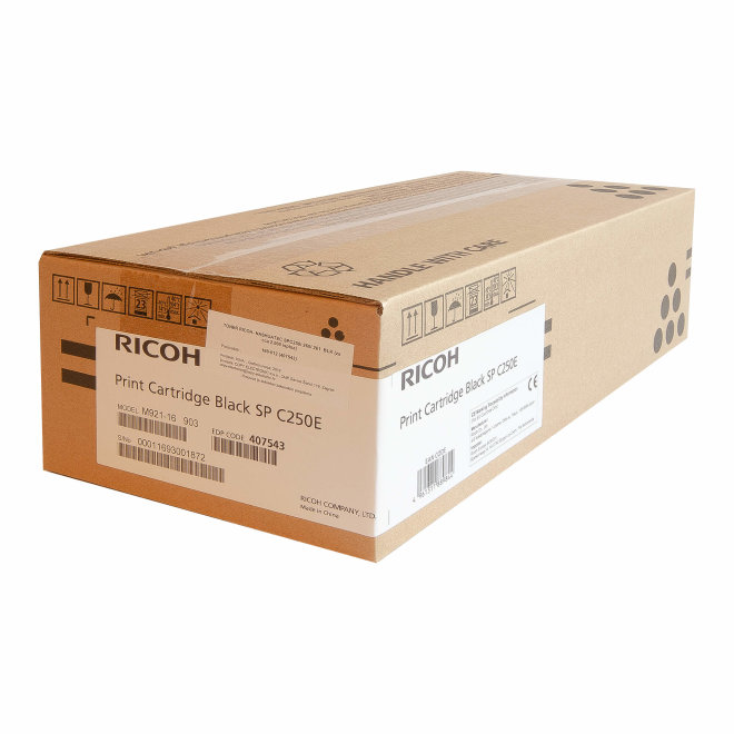 Ricoh/Nashuatec SP C250 / SP C260 / SP C261, Black, toner, cca 2.000 ispisa, Original [407543]
