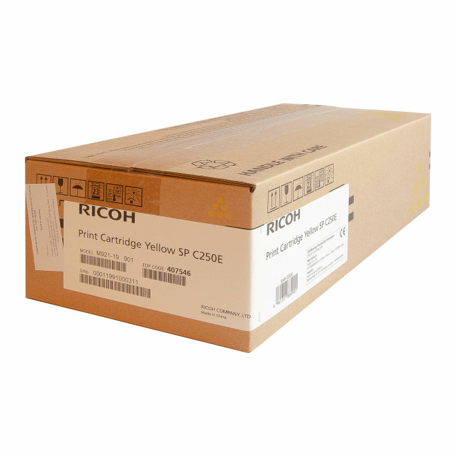 Ricoh/Nashuatec SP C250 / SP C260 / SP C261, Yellow, toner, cca 1.600 ispisa, Original [407546]