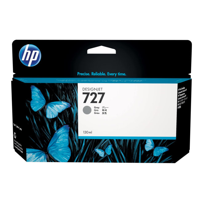 HP 727 130-ml Gray DesignJet Ink Cartridge, Original [B3P24A]