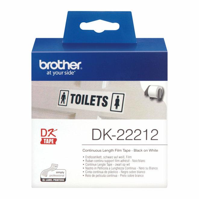 Brother naljepnice DK-22212, bijela rola s crnim ispisom, širina 62 mm, dužina 15,24 m [DK22212]