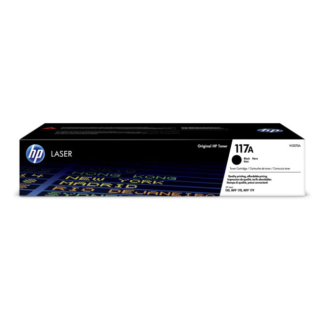 HP 117A Black Original Laser Toner Cartridge [W2070A]
