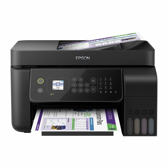 Epson EcoTank L5190, višefunkcijski pisač, tintni ispis u boji, A4, WiFi, USB, mreža, ADF, LCD zaslon [C11CG85403]