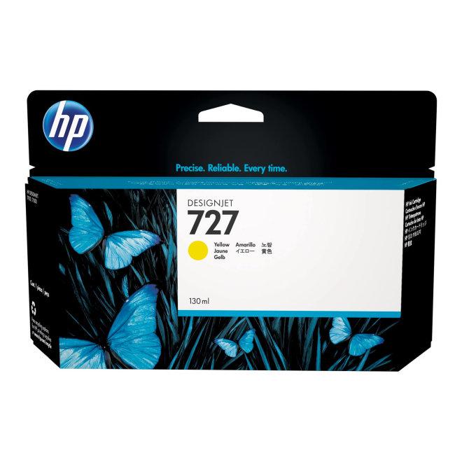 HP 727 130-ml Yellow DesignJet Original Ink Cartridge [B3P21A]