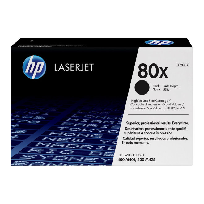 HP 80X High Yield Black LaserJet Toner Cartridge, kazeta, cca 6.900 ispisa, Original [CF280X]