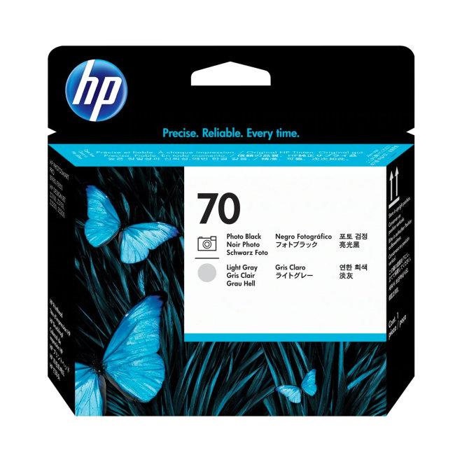 HP 70 Photo Black and Light Gray DesignJet Printhead, glava, Original [C9407A]
