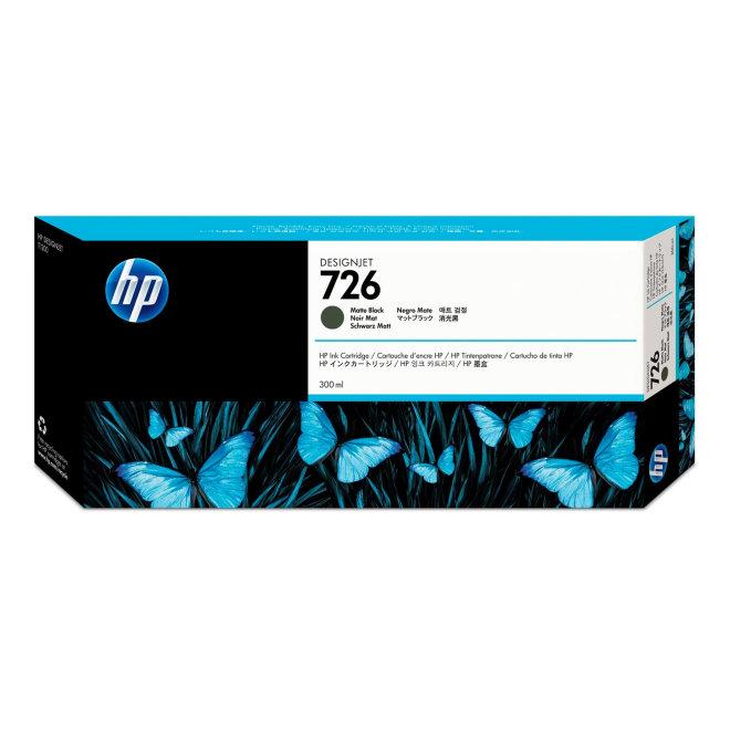 HP 726 300-ml Matte Black DesignJet Original Ink Cartridge [CH575A]