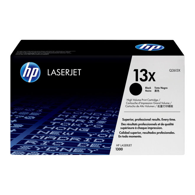 HP 13X High Yield Black Original LaserJet Toner Cartridge [Q2613X]