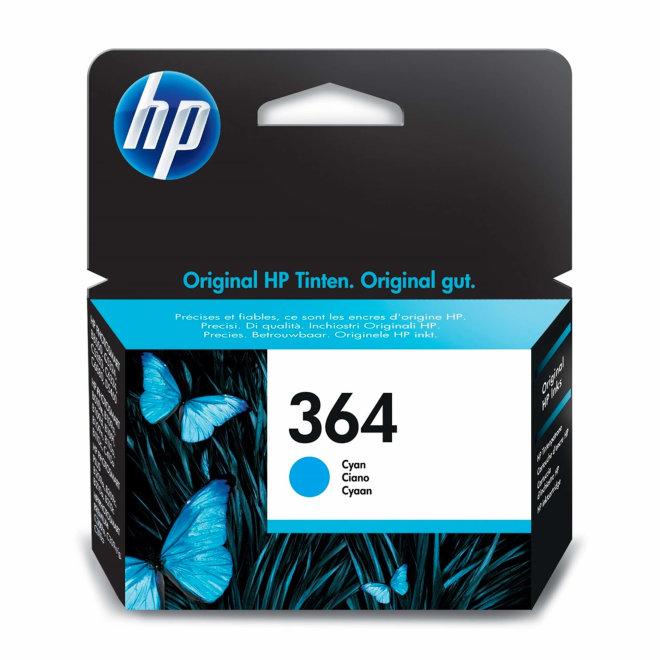 HP 364 Cyan Ink Cartridge, tinta, cca 300 ispisa, Original [CB318EE]