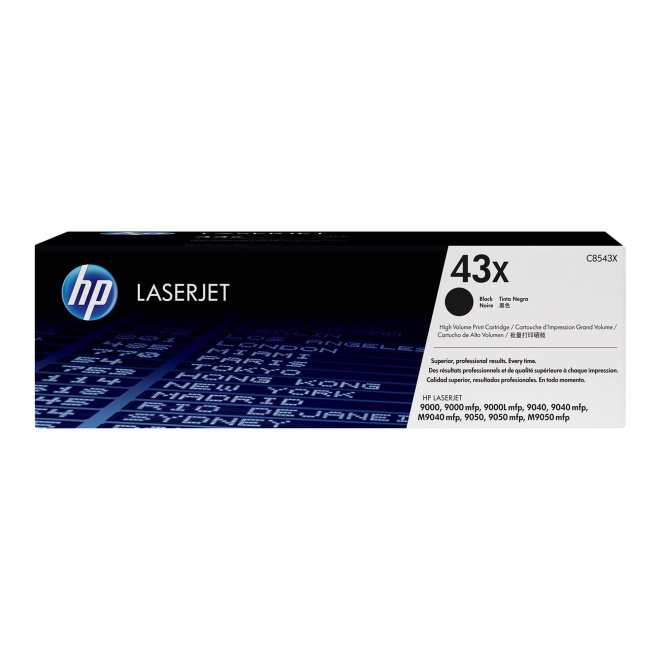 HP 43X High Yield Black Original LaserJet Toner Cartridge [C8543X]