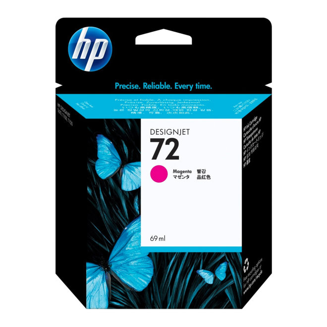 HP 72 69-ml Magenta DesignJet Original Ink Cartridge [C9399A]