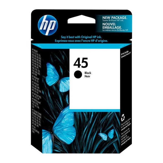 HP 45 Large Black Original Ink Cartridge [51645AE]