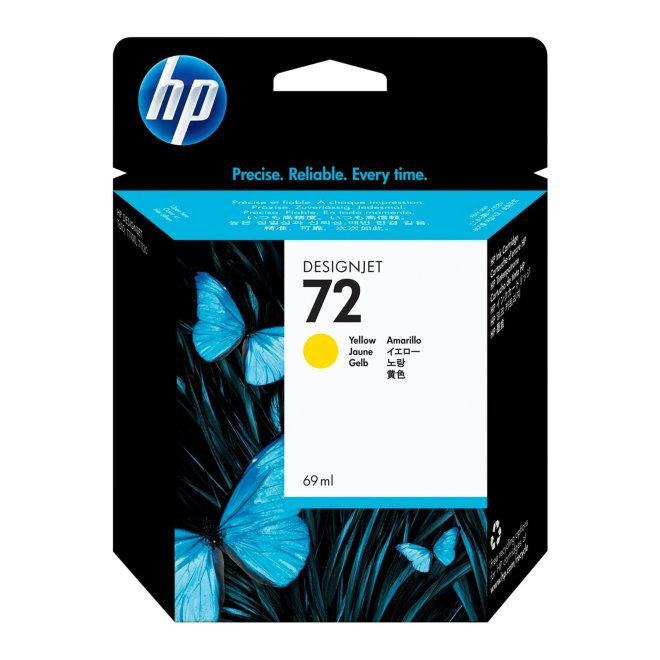 HP 72 69-ml Yellow DesignJet Original Ink Cartridge [C9400A]