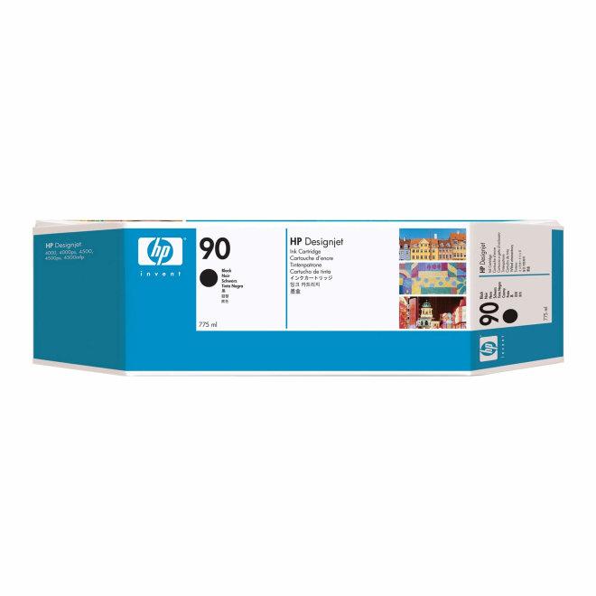 HP 90 3-pack 775-ml Black Original Ink Cartridges [C5095A]