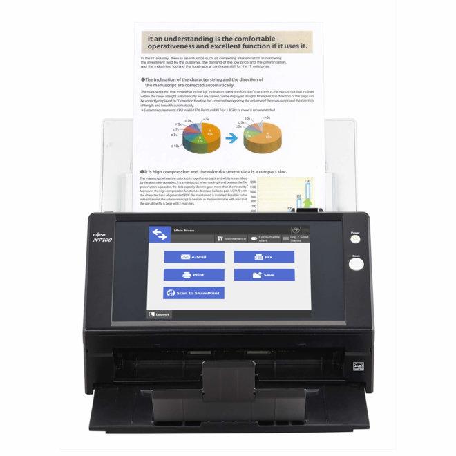 Fujitsu N7100, mrežni skener, A4 format, Ethernet, ADF 50 listova, Touchscreen [PA03706-B205]