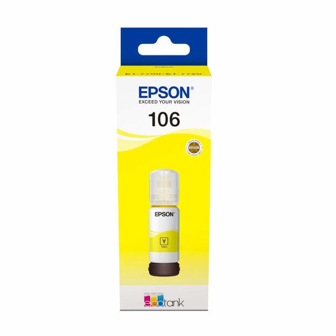 Epson 106 EcoTank Photo Yellow ink bottle, tinta u boci, za L7180 / L7160, Original [C13T00R440]