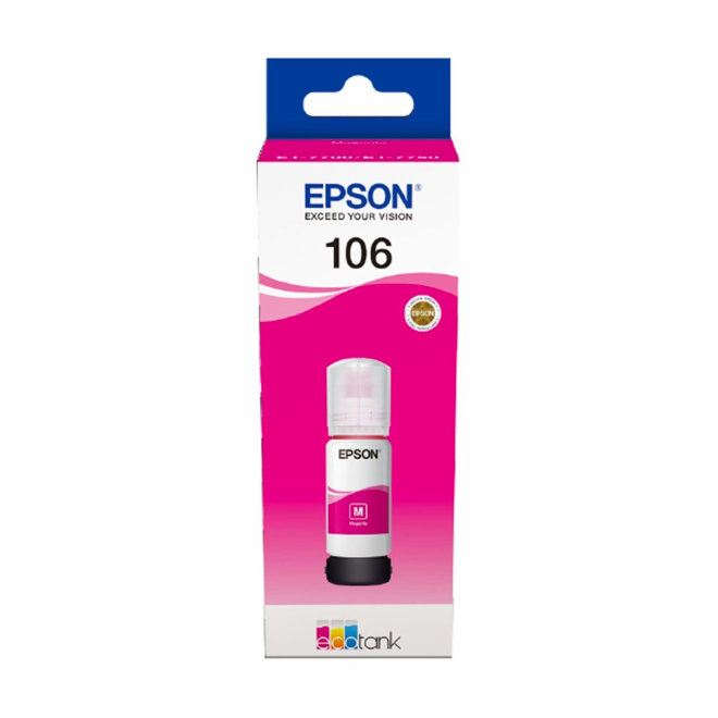 Epson 106 EcoTank Photo Magenta ink bottle, tinta u boci, za L7180 / L7160, Original [C13T00R340]