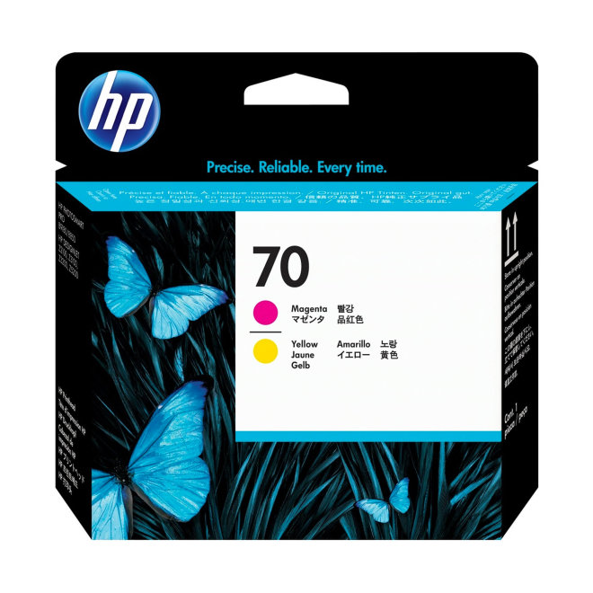 HP 70 Magenta and Yellow DesignJet Original Printhead/Glava [C9406A]