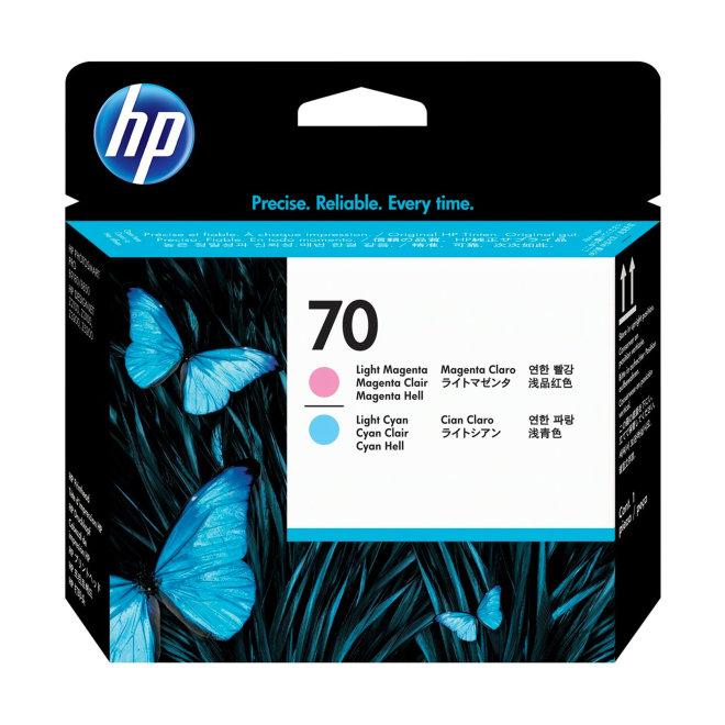 HP 70 Light Magenta and Light Cyan DesignJet Original Printhead/Glava [C9405A]