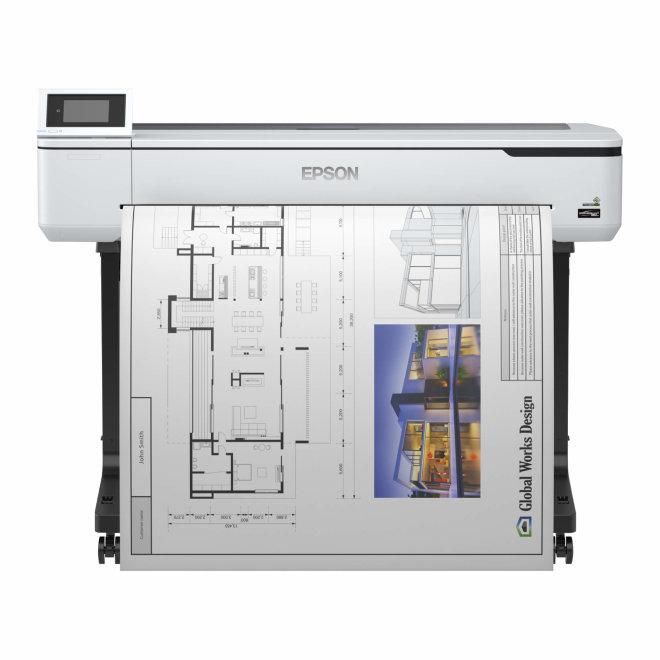 "Epson SureColor SC-T5100, tintni ploter u boji, 36"", 4 boje, 2400 x 1200 dpi, 1GB RAM, WiFi, mreža, USB, postolje [C11CF12301A0]"