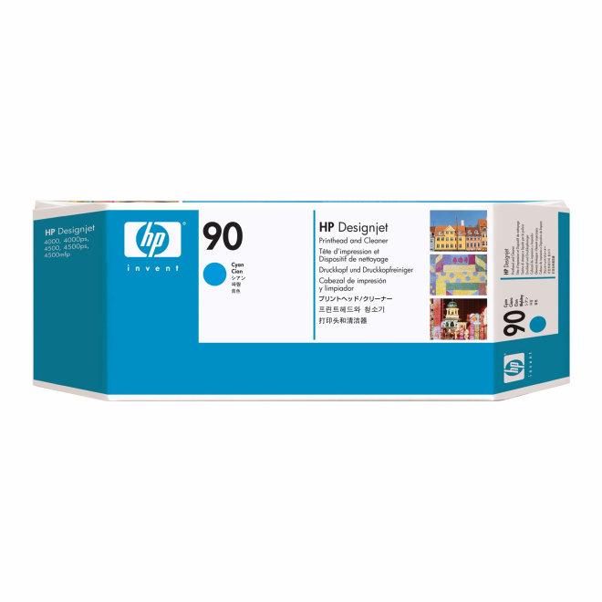 HP 90 Cyan DesignJet Original Printhead and Printhead Cleaner [C5055A]