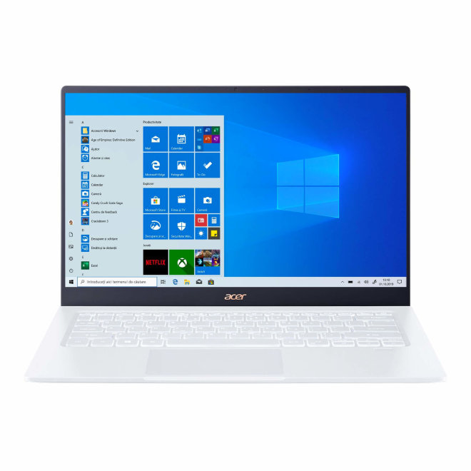 """Acer Swift 5, Intel Core i5, 14.0"""" Full HD Touch, 8GB RAM, 512GB SSD, Intel UHD Graphics, Touchscreen, Win10 Home, White, 0,99 kg [NX.HLGEX.006]"""