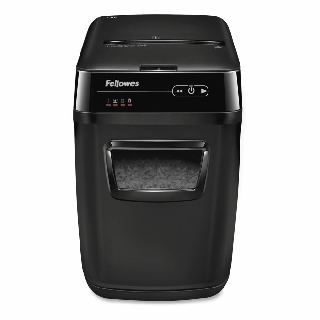 Fellowes AutoMax™ 150C Cross-Cut Shredder, uništavač papira, razina sigurnosti P-4, do 150 listova A4, rez 4x38 mm, kapacitet 32 l [3147167]