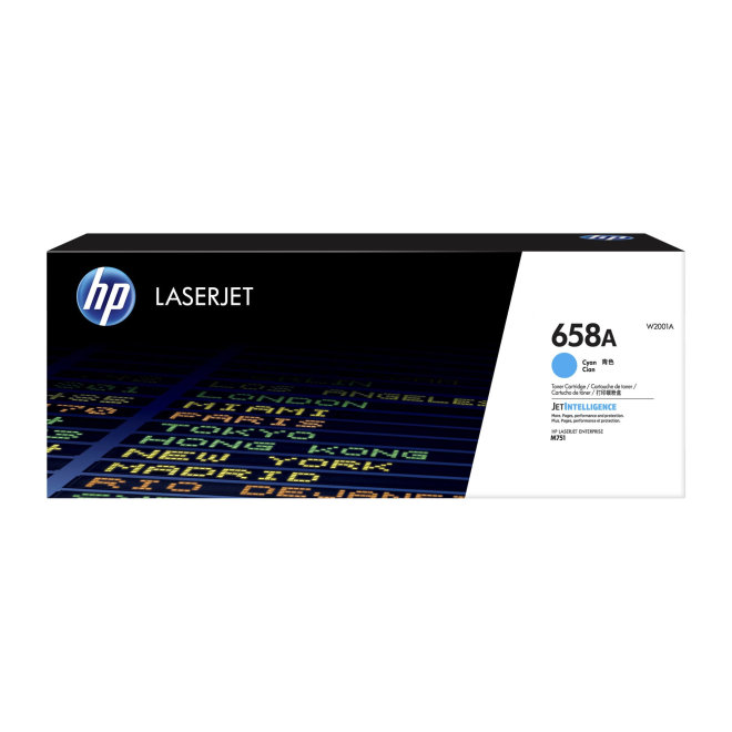 HP 658A Cyan Original LaserJet Toner Cartridge [W2001A]