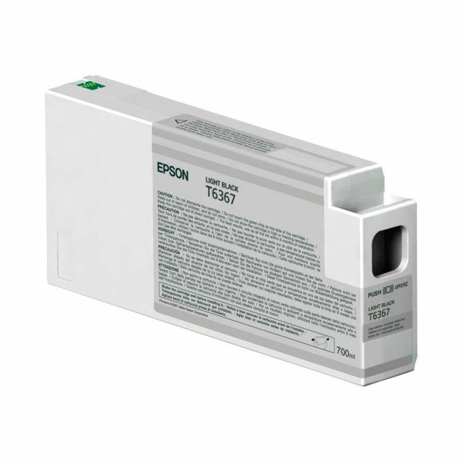 Epson tinta Light Black T636700, UltraChrome HDR, 700 ml, Original [C13T636700]