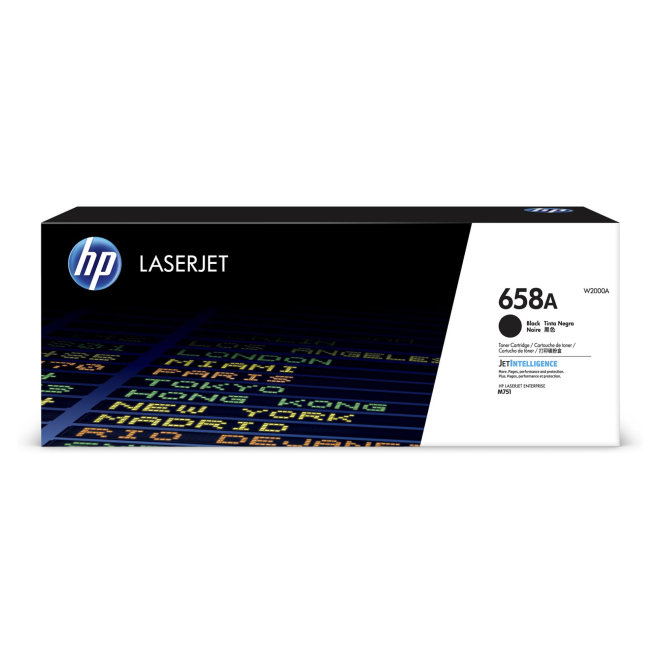 HP 658A Black Original LaserJet Toner Cartridge [W2000A]
