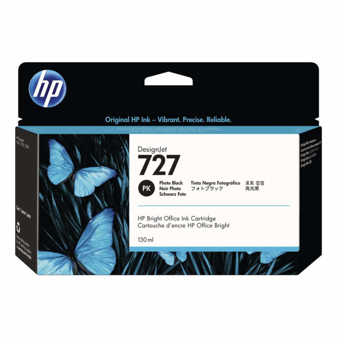 HP 727 130-ml Photo Black DesignJet Ink Cartridge, tinta, Original [B3P23A]