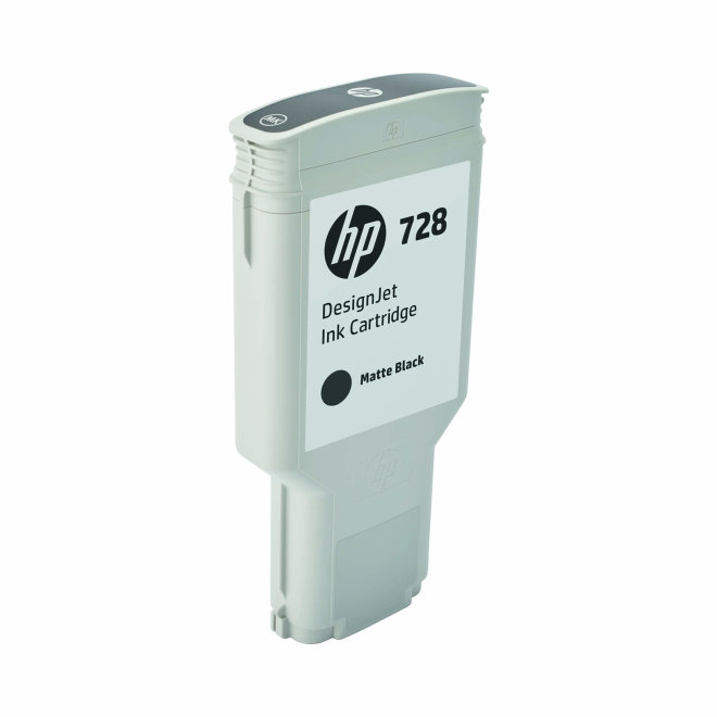 HP 728 300-ml Matte Black DesignJet Ink Cartridge, Original [F9J68A]