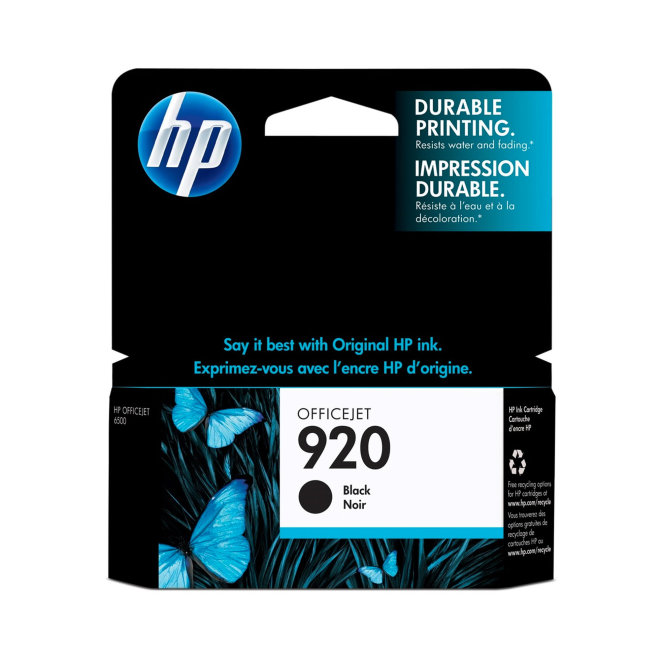 HP 920 Black Ink Cartridge, cca 420 ispisa, Original [CD971AE#BGX]