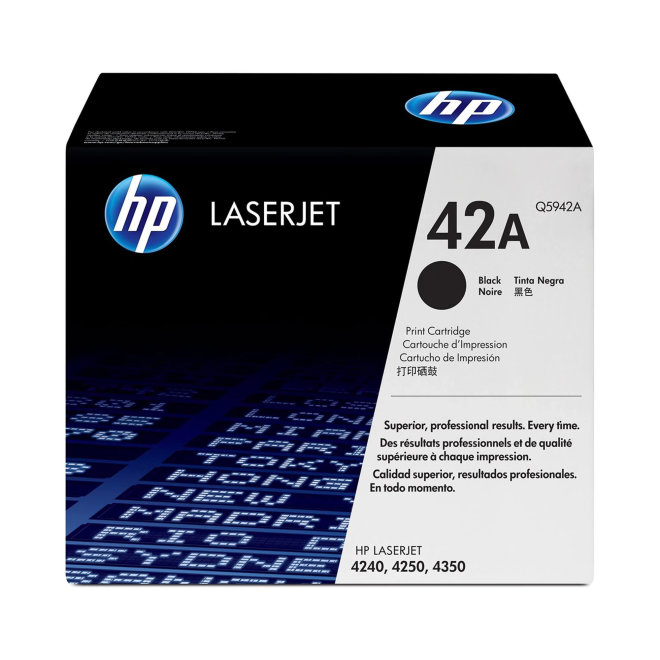 HP 42A Black LaserJet Toner Cartridge, kazeta, cca 10.000 ispisa, Original [Q5942A]