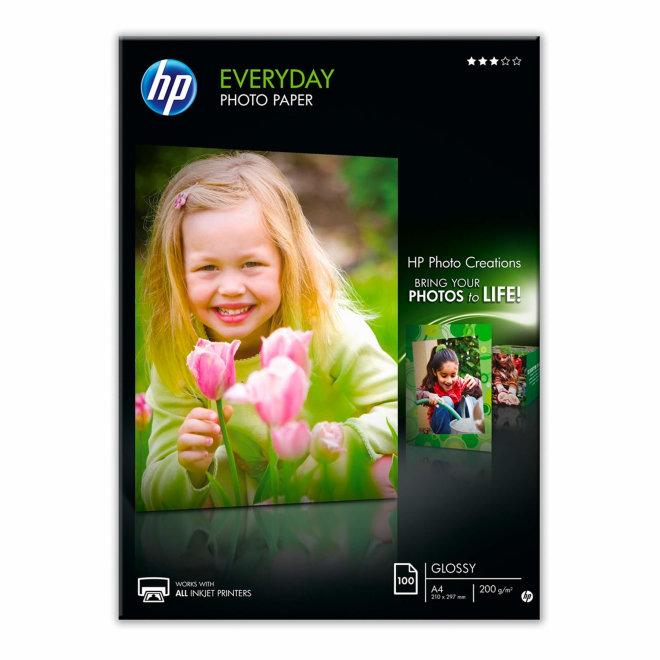 HP Everyday Glossy Photo Paper, 100 listova, A4, Original [Q2510A]