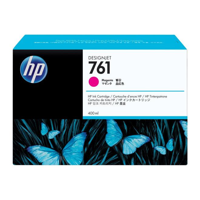 HP 761 400-ml Magenta DesignJet Ink Cartridge, Original [CM993A]